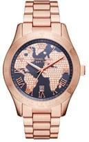 MICHAEL Michael Kors 'Layton' Pavé Dial Bracelet Watch, 44mm