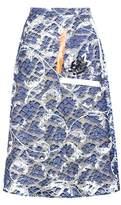 Christopher Kane Tape embellished lace skirt