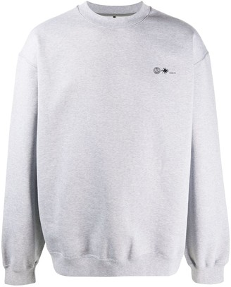 Oamc Boxy Fit Printed Logo Jumper