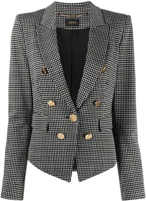 Liu Jo Chevron-Knit Fitted Blazer