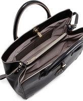 Jason Wu Jourdan Leather Turn-Lock Tote Bag, Black
