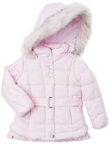Jessica Simpson Toddler Girls) Faux Fur Trim Hooded Coat