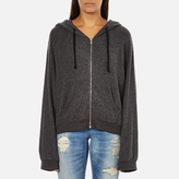 Wildfox Couture Women's Take Me Somewhere Hideout Hoody Clean Black/White Graphic