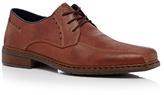 Rieker Brown Stitch Detail Derby Shoes