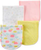Carter's 4-Pack Graphic-Print Burp Cloths, Baby Girls