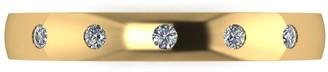 Love Diamond 9ct Gold 10 Point Diamond Set 4mm Court Wedding Band