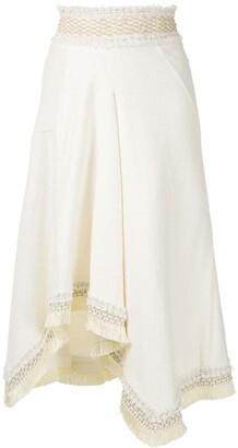 Framed Sunday asymmetric midi skirt
