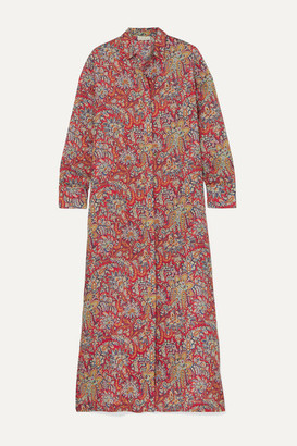 Etro Paisley-print Ramie Maxi Dress - Red