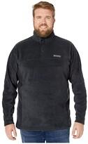 Columbia Big Tall Steens Mountaintm Half Snap (Black) Men's Fleece