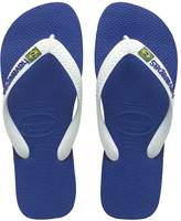 Havaianas Mens Boys Brasil Logo Flat Flip Flops - Black, White, Navy Blue