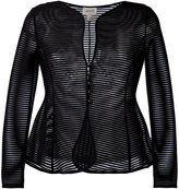 Armani Collezioni sheer flared jacket - women - Polyamide/Spandex/Elastane - 38
