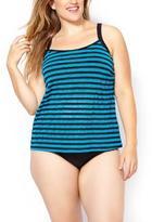 Penningtons Sea - Striped Mesh Tankini Swim Top