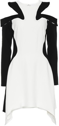 Thierry Mugler CrApe cold-shoulder dress