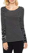 Vince Camuto Ruched Linear Stripe Top