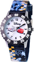Disney Cars Kids Time Teacher Nylon Strap Easy-Read Watch