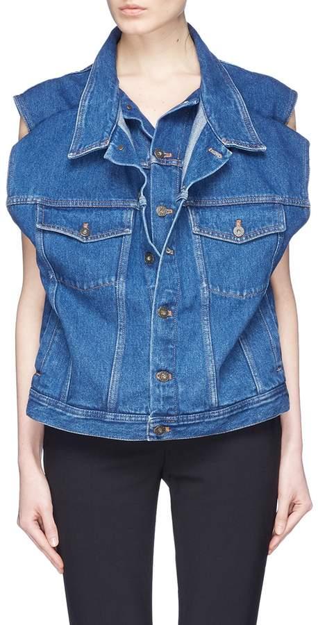 Y/Project Double layered front denim vest