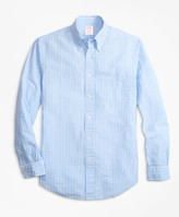 Brooks Brothers Madison Fit Gingham Seersucker Sport Shirt