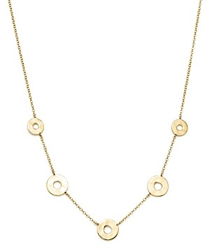 Ippolita 18K Yellow Gold Senso Graduated 5-Station Open Disc Necklace, 16