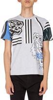 Kenzo Mixed Icon Logo T-Shirt, Gray Multi