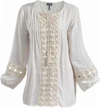Gisy Lacey Lace Trim Blouse