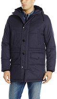 Nautica Men's Brushed Harringbone with Removable Sherpa Hood Parka