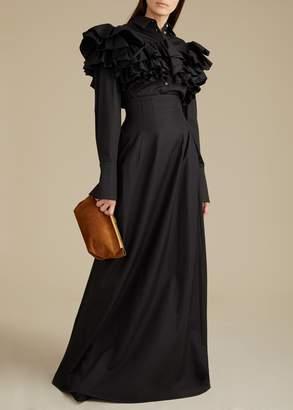 KHAITE The Tabitha Skirt in Black
