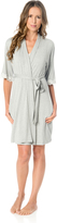 A Pea in the Pod Clip Down Nursing Nightgown And Robe- Grey