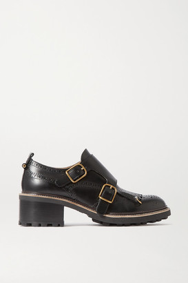 Chloé Franne Leather Brogues - Black