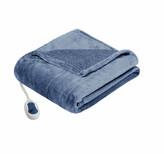 Simmons Solid Berber Heated Throw Blanket