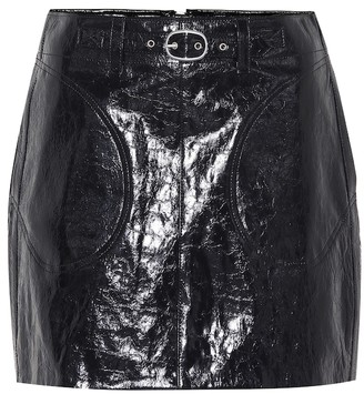 Rag & Bone Toni belted leather miniskirt