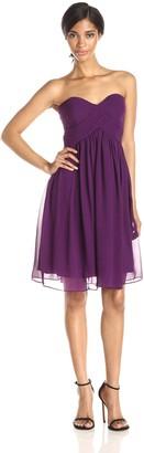 Donna Morgan Women's Strapless Sweetheart Chiffon Dress