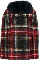 Mr & Mrs Italy faux fur plaid cape