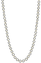 Armenta 18K Yellow Gold and Sterling Silver Circle Link Necklace, 35