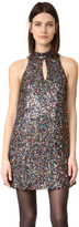 Cynthia Rowley Allover Sequin Mock Neck Shift Dress