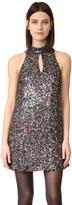 Cynthia Rowley Allover Sequin Mock Neck Shift Dress