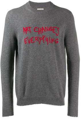 Zadig & Voltaire Zadig&Voltaire Art Changes Everything slim jumper