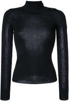 Etoile Isabel Marant fitted poloneck sweater - women - Polyester/Viscose - 36