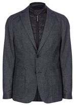Boss 2 In 1 Birdseye Flannel Jacket