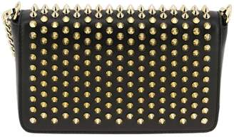 Christian Louboutin Mini Bag Zoom Spikes Clutch In Smooth Leather With Metal Studs