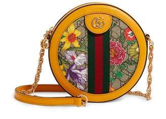 Gucci Mini GG Flora Ophidia Round Shoulder Bag