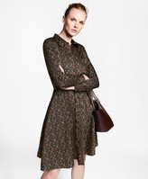 Brooks Brothers Violette-Print Cotton Sateen Shirt Dress