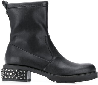 Liu Jo Studded Heel Ankle Boots