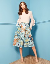 Closet Pleated Split Skirt