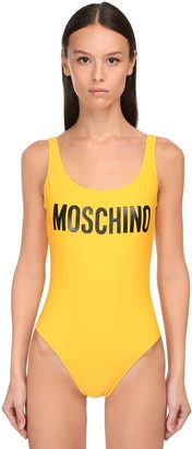 Moschino Logo Printed One Piece Swimsuit