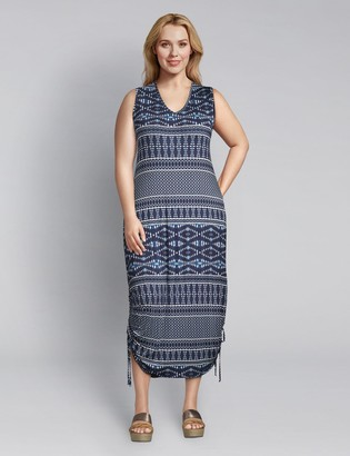 Lane Bryant Printed Side-Tie Midi Dress