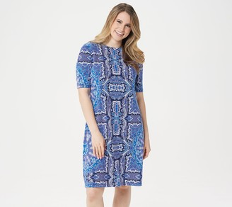 Isaac Mizrahi Live! Choice of Print Elbow Sleeve T-Shirt Dress