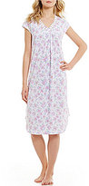 Karen Neuburger Crochet-Trimmed Floral Nightgown