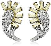 Ben-Amun Jewelry with mixed Swarovski Crystals Stud Earrings