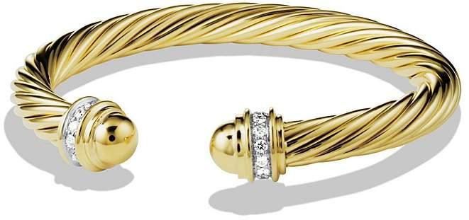 David Yurman Cable Classics Bracelet with Diamonds & Gold