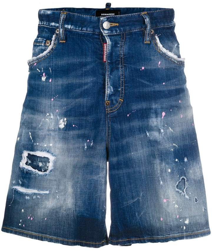 DSQUARED2 mid-rise denim shorts
